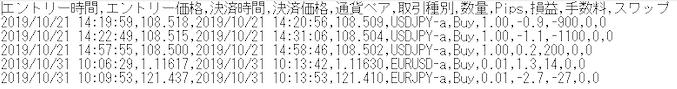CSVファイル例